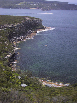 Dobroyd Head, at Clontarf, with North Head in the distance, Sydney Harbour National Park