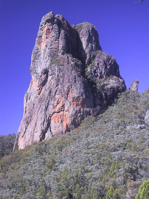 Belougery Spire, one of the magnificent volcanic plugs in Warrumbungles National Park