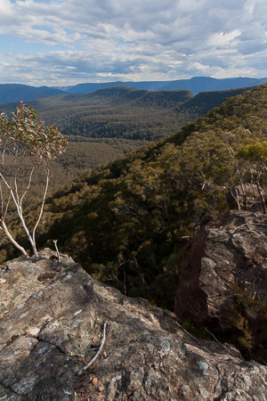 Mt Dingo, Mt Merrimerrigal and Mt Warrigal from Mt Mouin